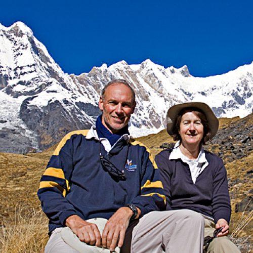 Peter and Paula below Annapurna South