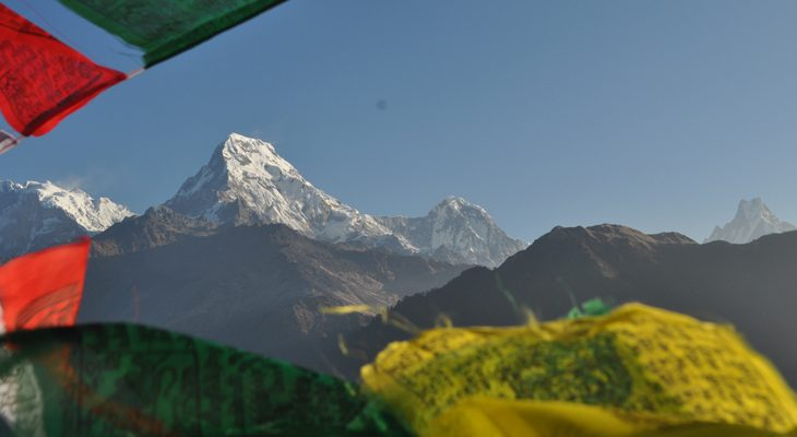 En route to Annapurna base camp ascent to Poon Hill viewpoint for the breathtaking mountain view