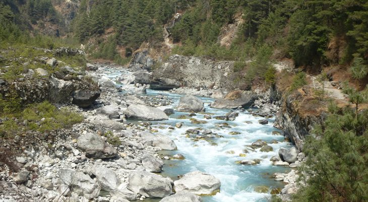 Trek along Dudh Koshi River in Gokyo Lake and Ri Trek