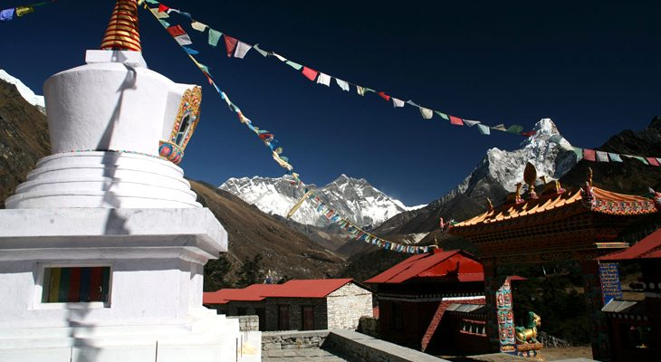 Everest View Trekking and Tengboche monastery with Mount Everest