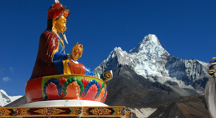 Magnificent view of Ama Dablam from Tengboche Monastery en Everest View Trek