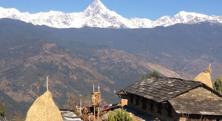 Excellent Mountain View and diverse landscapes catching along the Gurung Heritage Trail Trekking