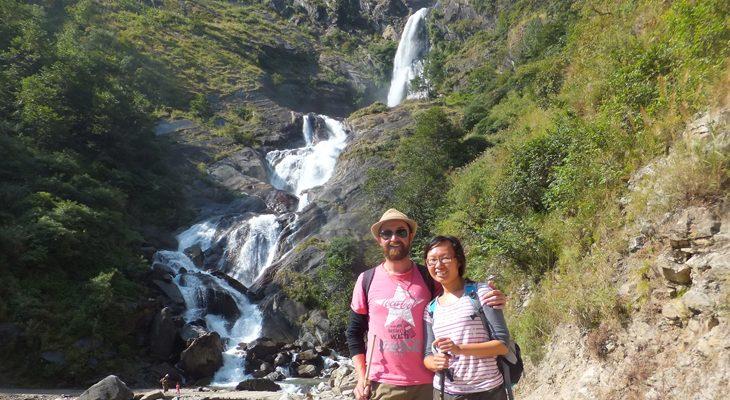 Rupse chhahara, stunning waterfall passing on the Jomsom Muktinath trek