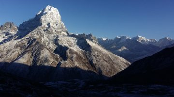 Superb mountain view seen along the newly discover Renjo la pass to Gokyo valley