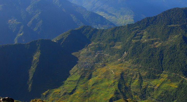 Varied landscapes sceneries expose from Nagthali Gyang in Tamang Heritage Trail Trek