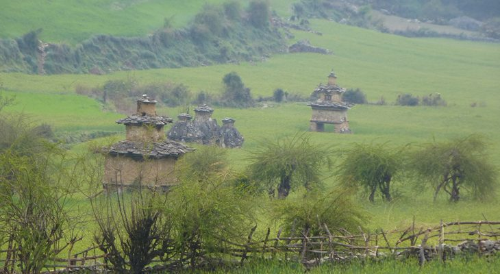 Mu Gompa, one of the oldest buddhist monastery on Tsum valley trekking route