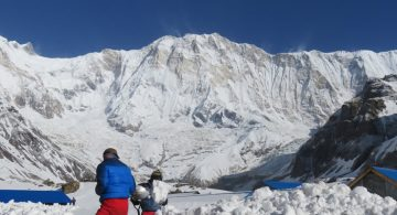 Amazing view of Annapurna Himalayan range seen from Annapurna bc
