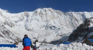 Amazing view of Annapurna Himalayan range seen from Annapurna bc