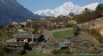 Cultural cluster village of Chhekangparo on tsum valley trek