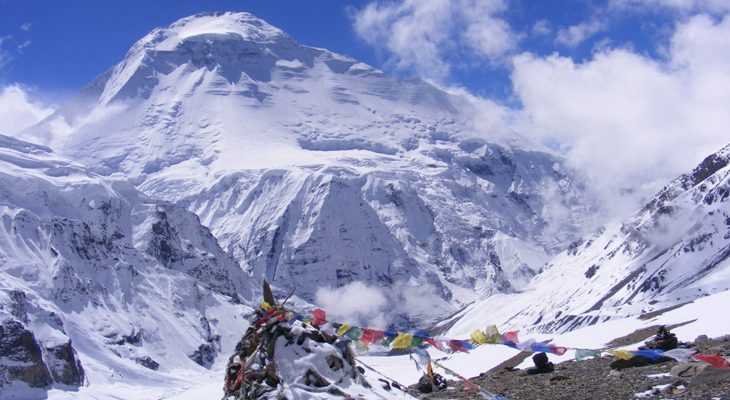 French pass approaches excellent view of the mount Dhaulagiri in Dhaulagiri round trek