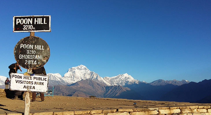 Climb to Poon Hill Viewpoint en route of Poon Hill Ghandruk Trek with Muldhai viewpoint that offer magnificent mountain view