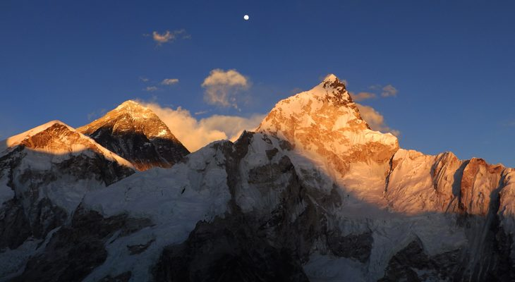 Everest Classic Trek let you ascend to Kala Patthar viewpoint and take a picture burning sunset on the Mount Everest.