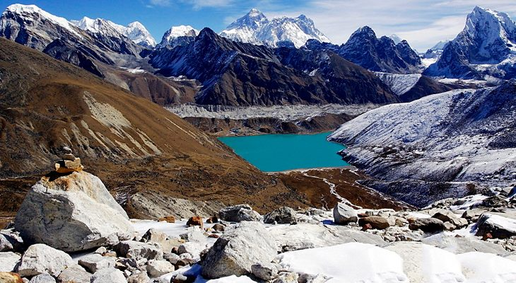 Everest three passes trek, great view from Renjo La pass.