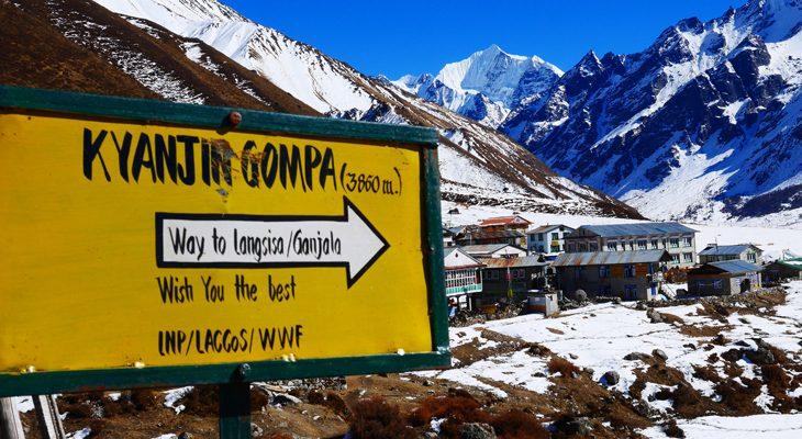 Kyanjin Gompa village last village of Langtang valley trekking