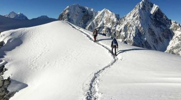 A climbers need to give all the their effort to conquer Lobuche peak