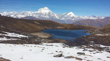 Khayer lake and Mount Dhaulagiri