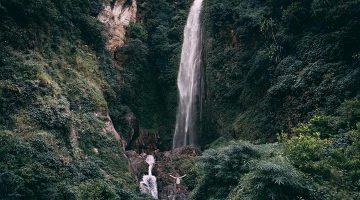 Thundering water fall passes on Nar Phu valley trek