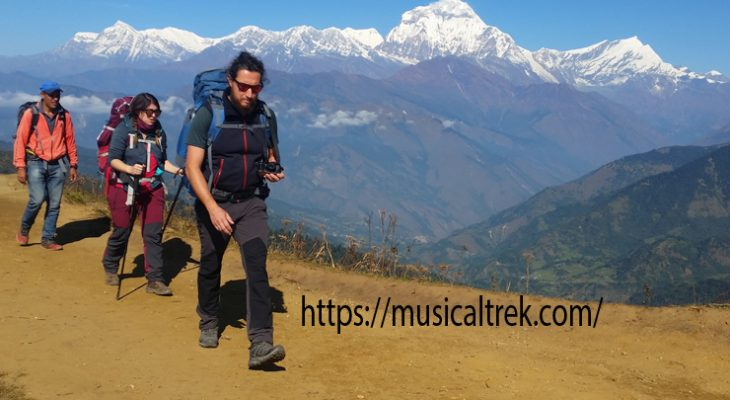 Magnificent view of Dhaulagiri massive on Poon Hill Trek