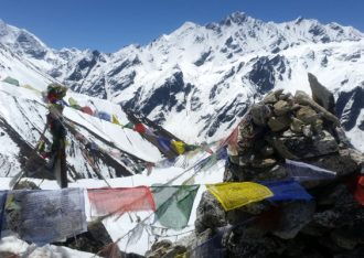 Langtang and Helambu trek easy hiking on unique landscapes in the mountains also side trek to glacier and fresh watery Gosainkunda Lake.
