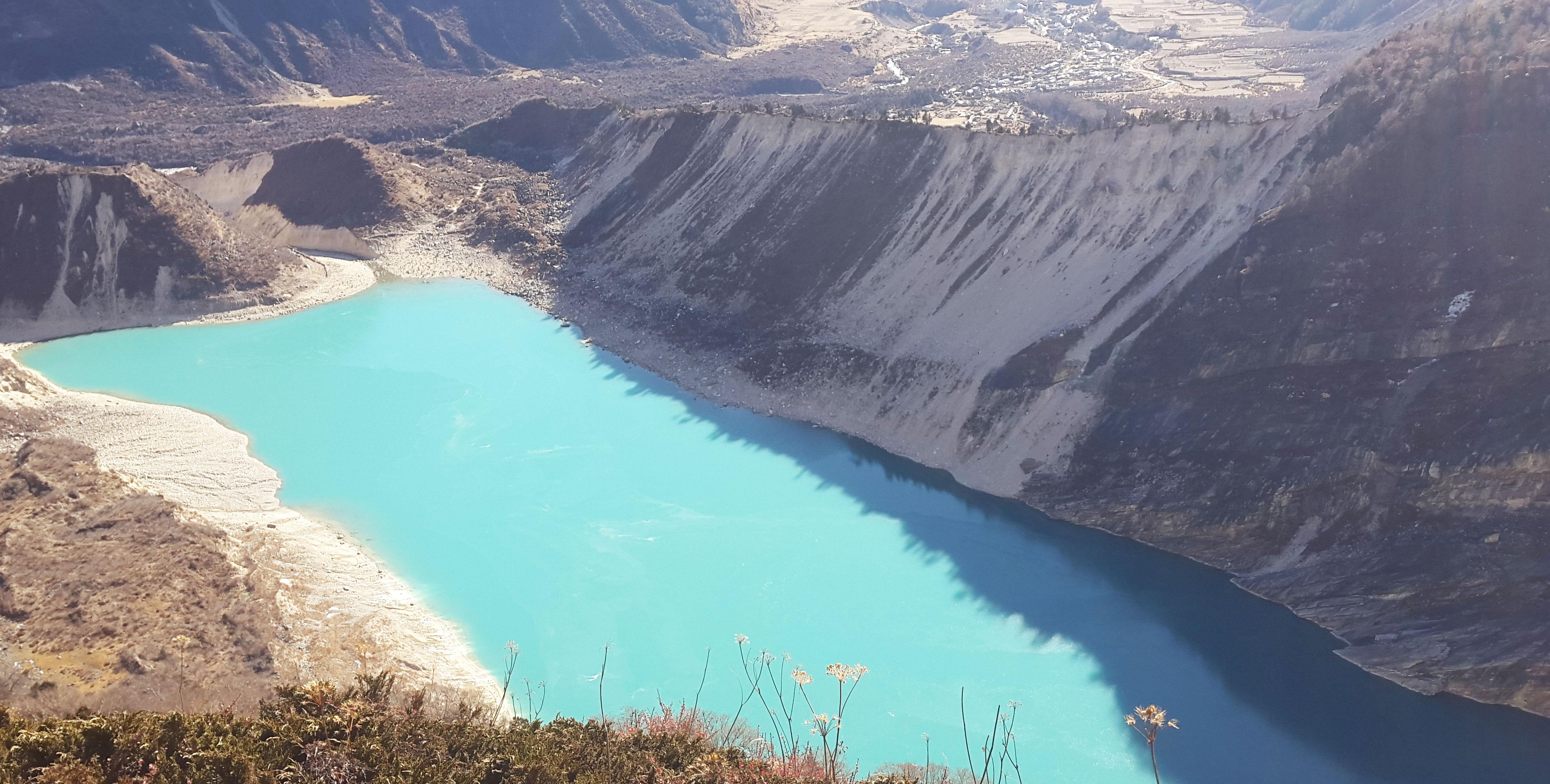 easy and relaxing day trip to Birendra lake in Manaslu trek