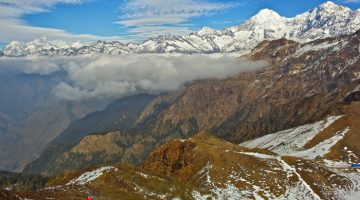 The view seen from Pangsang Pass on the Ruby Valley Tamang Heritage and Langtang Trek