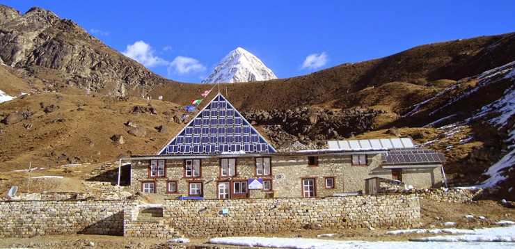 Italian Pyramid, the weather forecast researcher center in Everest Nepal.