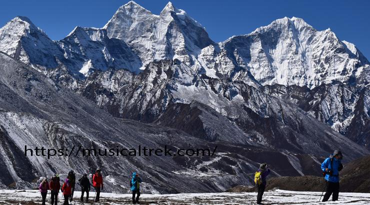 Trekker's towards Everest base camp after dingboche village