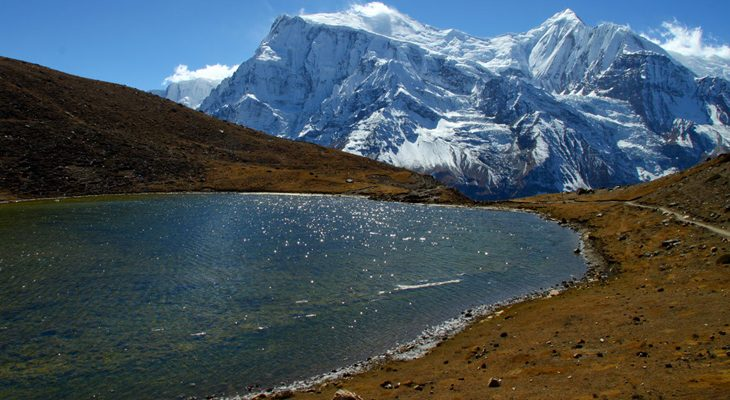 Ice lake day hike with stunning view of Annapurna mountain range