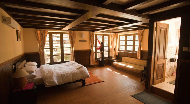 Comfort bed room during the Everest Luxury Lodge Trek