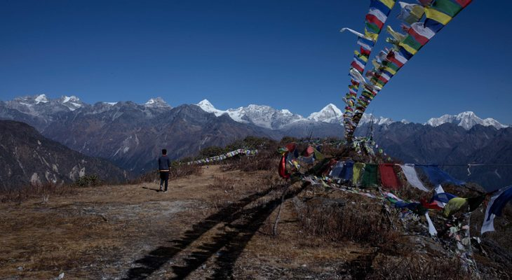 A side trek to Hyolmo Ama Chhumo Yangri viewpoint provides panoramic mountain view en route of Langtang valley Ganja la pass trek