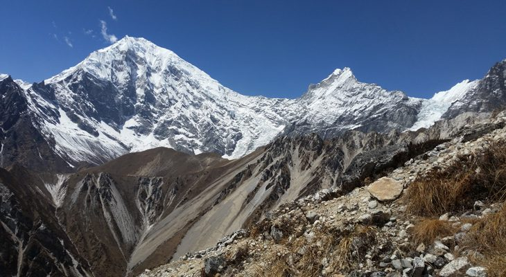 A side trek to Kyanjin/Kyangin Ri provides close and stunning view of the Lagtang Lirung and other snow peaks en route of Short Langtang valley trek.