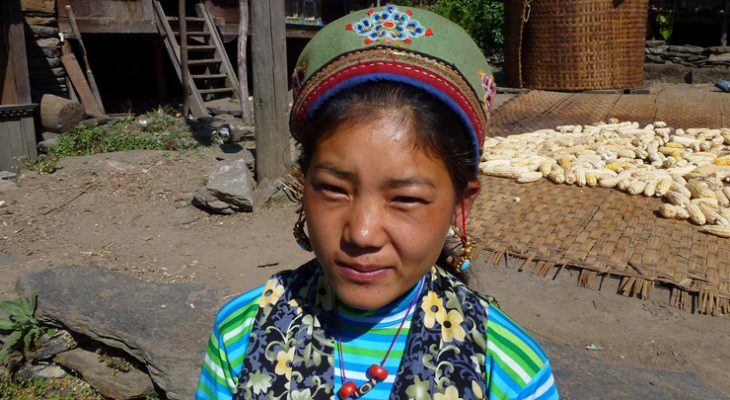 Tamang girl photo taken en route of Short Langtang valley trek