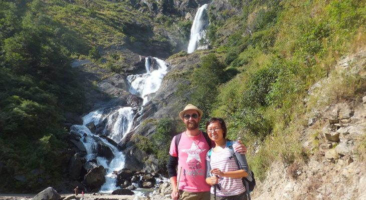 Exclusive Rupse waterfall in classical Annapurna circuit trek