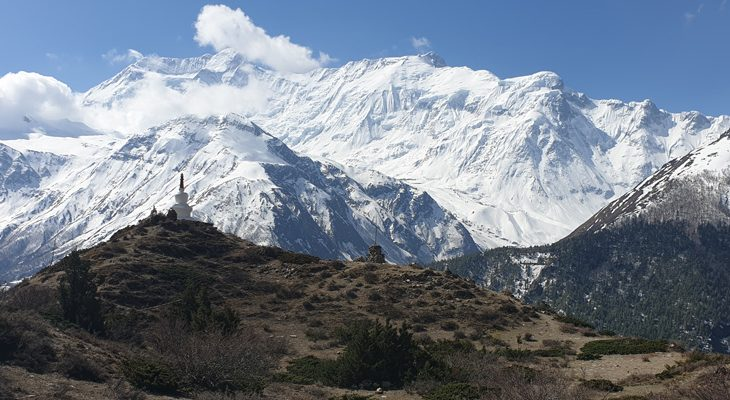 Short Annapurna circuit trek provides exceptional view of the numerous snow-clad mounta